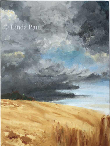 prairie and sky painting