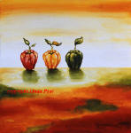 three peppers contemporary painting