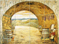 Everything Tuscany wall tile mural