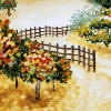 vineyard fence accent tile