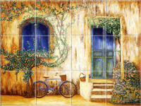 french country kitchen mural