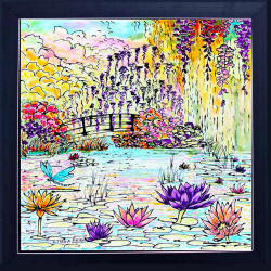 framed monet tile
