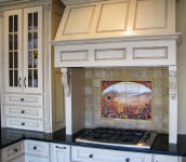 french country kitchen backsplash idea